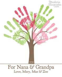Grandparents Holiday Gift DIY Personalized Child's by peachwik
