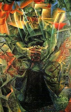 Materia-1912, Elasticity,-1916, Umberto Boccioni by Brother Kenny, via Flickr