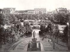 An der Leipziger Straße befand sich der Dönhoffplatz. Benannt nach dem preußischen Generalleutnant Alexander von Dönhoff. Berlin, 1900. o.p.