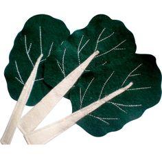 Légume en feutrine : les blettes - Idées et conseils Feutrine tuto