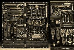 Antique Tool Chest, fully loaded! #toolsofthetrade www.tjross.co.uk