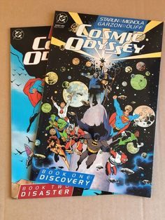 COSMIC ODYSSEY BOOK ONE Discovery AND BOOK TWO Disaster bundle 1988 DC