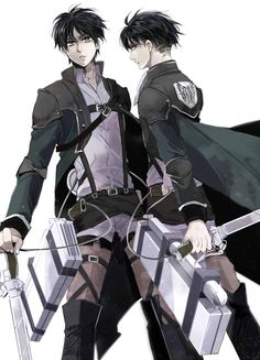 Eren and Levi - Attack on Titan - Shingeki no Kyojin