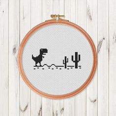 Trex mini Cross Stitch Pattern Dinosaur T-Rex Cross Stitch