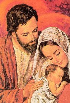 Images pieuses ( La Sainte Famille)