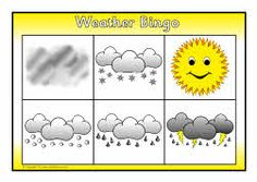 Weather bingo game.