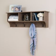 48inch Wide Hanging Entryway Shelf, Drifted Gray – Wholesale Furniture Brokers