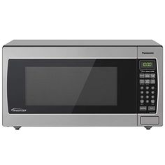 Panasonic Microwave Oven Stainless Steel Countertop/Built-In with Inverter Technology and Genius Sensor, Cu. Stainless Steel Countertops, Stainless Steel Doors, Built In Microwave, Microwave Oven, Panasonic Microwave, Fishing Shack, Cubic Foot, After School Snacks, Specialty Appliances