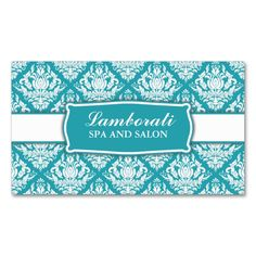 Elegant Professional Damask Floral Pattern Salon Double-Sided Standard Business Cards (Pack Of 100). Make your own business card with this great design. All you need is to add your info to this template. Click the image to try it out!