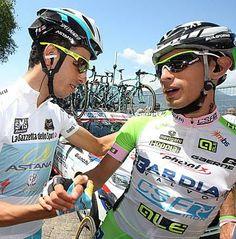 Giro 2014 - 21 (Gemona del Friuli - Trieste, 172 km) : Fabio Aru (Italia / Astana) and Francesco Bongiorno (Italia / Bardiani - CSF). Photo: © Bettini Photo