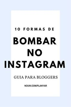 instagram Marketing Digital, Marketing Online, Social Media Marketing, Alta Performance, Instagram Marketing, Work Success, Instagram Blog, Blogger Tips, About Me Blog