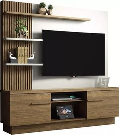 13 fun tv wall design ideas to see 7 – Home Decor Tv Unit Interior Design, Tv Unit Furniture Design, Tv Wall Design, Tv Cabinet Design Modern, Tv Furniture, Tv Shelf Design, Modern Interior, Modern Tv Room, Modern Tv Wall Units