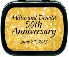 50th Wedding Anniversary Favors Ideas | 50th-wedding-anniversary-favors-golden-mint-tins-1.png