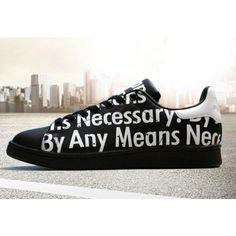 Adidas Stan Smith X Supreme Black White Letters | stan smith