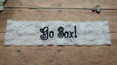 Boston Red Sox Garter, Sports Garter, Team Garter, Baseball Garter, Blue Garter, Something Blue. Shower Gift, Personalized Garter, Bride by BloomsandBlessings on Etsy