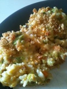 Kraft's Broccoli, Cheese, & Rice Casserole with Ritz Crackers