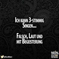 Ich auch :D #singen #falsch #laut #begeisterung #lustig #Sprüche #witzig #lachen #besenstilvoll Movie Posters, Laughing, Random Stuff, Amazing, Film Poster, Billboard, Film Posters