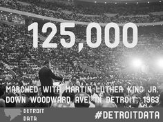 Data: Marchers with Martin Luther King Jr. in Detroit 1963 ...