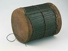 A traditional Kenyan drum, similar to the Djembe of West Africa.