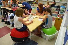 Teacher Rebecca Kotlyar has implemented flexible seating in her classroom, providing a variety of workspaces to meet the needs of different learners. Students are now making use of the different seating options to increase focus, comfort and productivity.
