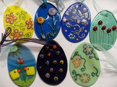 Fused glass eggs