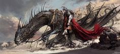Black Dragon Knight., Dongjun Lu on ArtStation at https://www.artstation.com/artwork/kzaKn