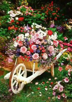 Outdoor Garden Decor, Outdoor Planters, Flower Planters, Rustic Outdoor, Beautiful Gardens, Beautiful Flowers, Garden Art, Garden Design, Easy Garden