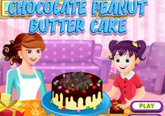 Do Chocolate and Peanut Butter goes well in one cake? So today we will be baking a Chocolate and Peanut butter cake. Join this free online Cooking game and find out how and what will be the taste of this super combo cake! Cake Games, Cooking Games, Chocolate Peanut Butter, Play, Amazing