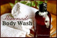 How To Make a Homemade Natural Moisturizing Body Wash (recipe)