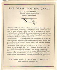 FAIRBANK, ALFRED - The Dryad Writing Cards.