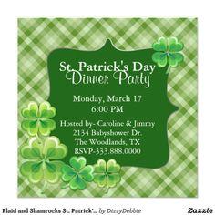 Plaid and Shamrocks St. Patrick's Day Invitation