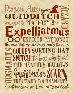 Harry Potter Fan Art Printable Digital Subway by ljcDigitalDesigns, $5.00