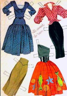 Dress For Success With Feng Shui! Paper Dolls Clothing, Barbie Paper Dolls, Paper Dolls Book, Vintage Paper Dolls, Paper Toys, Fabric Dolls, Doll Clothes, Vintage Paper Crafts, Paper Doll Craft