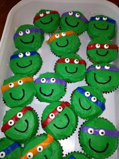 Ninja Turtle Cupcakes by: If It Ain't Sweet
