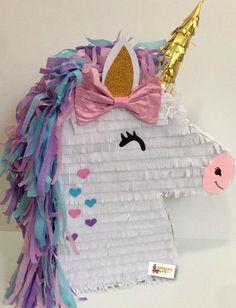 Ready to Ship! Unicorn Pinata on Etsy Party Unicorn, Unicorn Pinata, Unicorn Birthday Parties, Diy Birthday, Birthday Party Decorations, Party Themes, Pony Party, Baby Shower, Rainbow Pinata