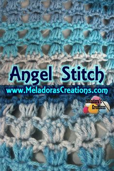 This Free Crochet pattern teaches you how to do the Crochet Stitch Angel Stitch. It's easy to learn the Angel stitch with this Beginner crochet tutorial with Slow Motion.