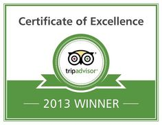 Thanks to all our guest for the Certificate of Excellence that we just won!