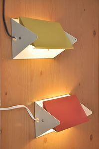 pair of 1960ies ANVIA wall lamps HOOGERVORST - charlotte perriand eames era