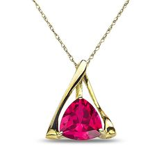Ebay NissoniJewelry presents - Ladies Pendant and chain with Created Ruby in 10k Yellow Gold    Model Number:P7825SM-Y0CRU    http://www.ebay.com/itm/Ladies-Pendant-and-chain-with-Created-Ruby-in-10k-Yellow-Gold/221877919623