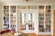 Built in bookshelves around doors