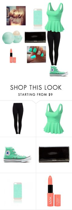 """#jessie"" by foreveryoug ❤ liked on Polyvore featuring Pieces, J.TOMSON, Converse, Calvin Klein, Forever New, NYX and Eos"