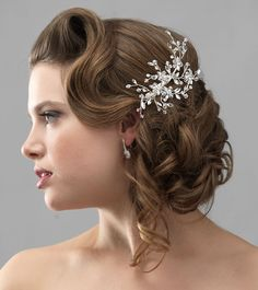 Side & Back Bridal Combs -- Wedding Hair Accessories - USA Bride
