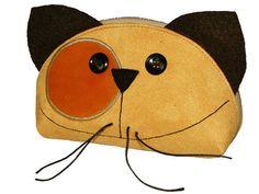 OOAK Gift for Cat Lover Zipper PURRRRRRse Happy Cat Face by ifONA