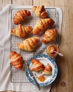 Follow Richard Bertinet's step-by-step guide for perfect buttery, flaky croissants.