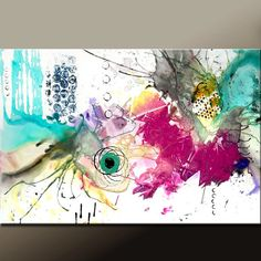 HYPNOTIZED - NEW Modern Abstract Art Painting on Canvas 36x24  Original by wostudios, $129.00
