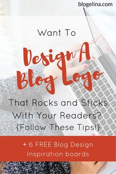 Are you a blogger or infopreneur who wants to have an amazing, eye-catching blog logo? This tutorial includes tips on the rules of blog design, and how to choose the right colors and fonts for your blog. Click through to read the whole post and download the 6 free blog design inspiration boards!