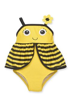 Shop today for Bumble Bee Black & Yellow One Piece Swim Suit – Baby Mos. & deals on Swimwear! Official site for Stage, Peebles, Goodys, Palais Royal & Bealls. Baby Girl Swimsuit, Girls One Piece Swimsuit, Yellow One Piece, Mermaid Bikini, Best Swimwear, Swim Sets, Black N Yellow, Girl Outfits, Baby Girls