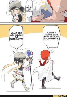 Saber X Shirou, Shirou Emiya, Fate Stay Night Anime, Fate Servants, Fate Anime Series, Fate Zero, Type Moon, Thug Life, Popular Memes