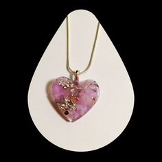 Orgonite  Heart Pendant with Calming Relaxing by kbrooks189