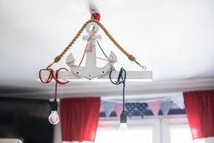 Marynistyczne marynarskie dekoracje pokoju lampa zasłony siatka ryback Jaworzno - image 2